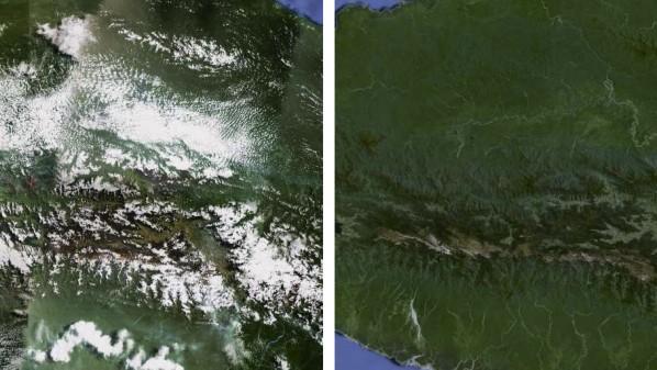 صورة تُظهر الفارق بين الصور الجديدة (يمين) والقديمة (يسار)